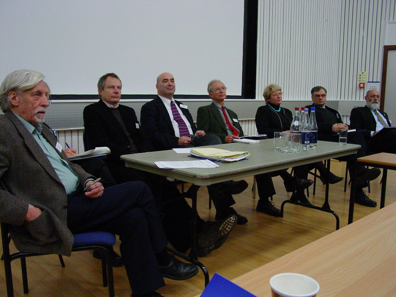 Paul Oliver (left) with leading lights of vernacular architecture study at the Oxford conference, 2006