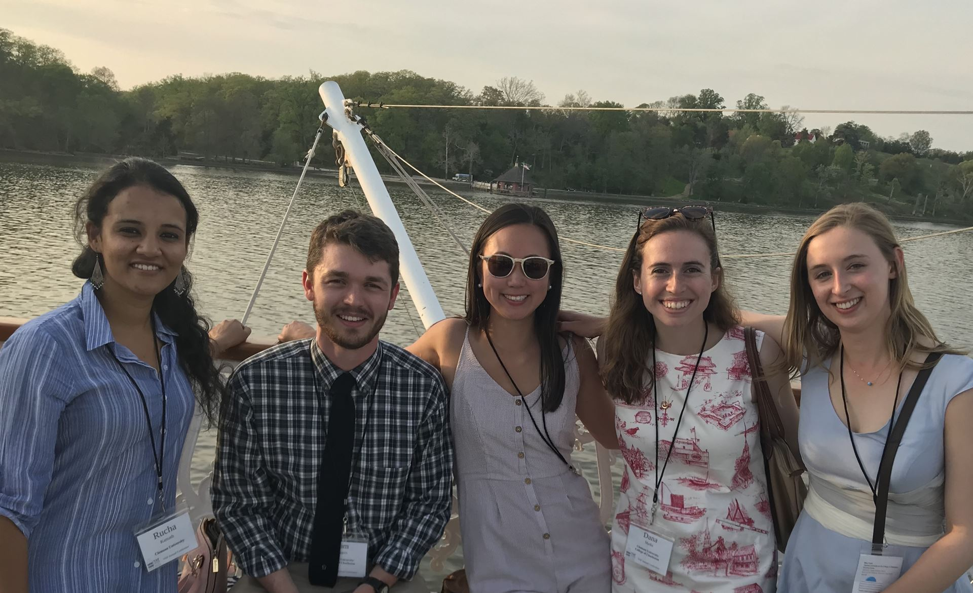 VAF Ambassadors on cruise to Mount Vernon