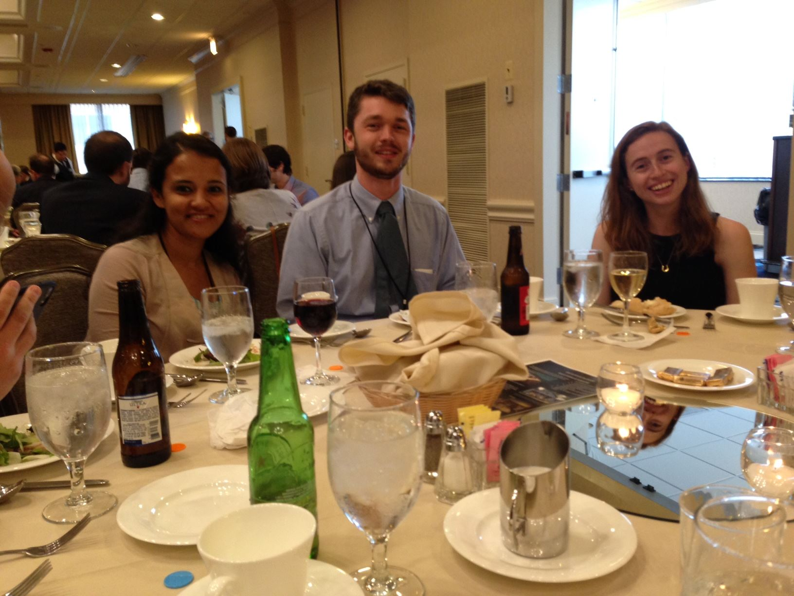 Rucha Kamath, Sam Biggers, and Dana Marks at the banquet